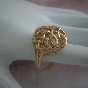 golden knot ring